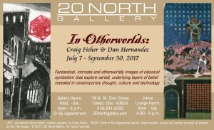 """In Otherworlds"" postcard"