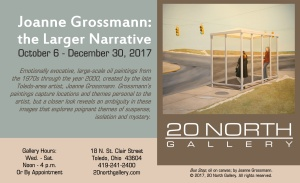 """Joanne Grossmann: the Larger Narrative"" postcard"