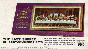 """1969 Craft Master catalog detail, """"The Last Supper"""" Paint By Number kit. From the archival collection of Peggy Grant."""