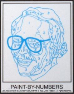 Dan Robbins' Paint By Number self portrait