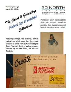 """The Grant and Goodridge Paint By Number Collections"" postcard"