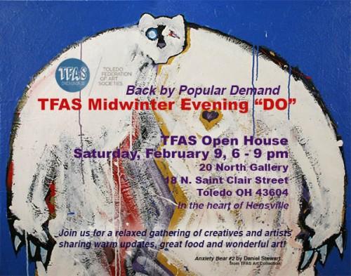 "TFAS Midwinter Evening ""DO"" postcard invitation"