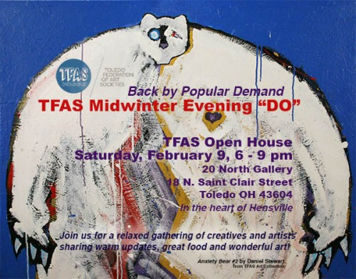 "TFAS Midwinter Evening ""DO"" postcard invitation"