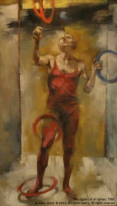 """""""The Juggler"""" (self portrait) oil on canvas by Adam Grant, 1962, from the Ann Goodridge Collection"""