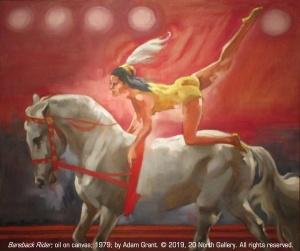 """""""Bareback Rider"""" oil on canvas by Adam Grant, 1979"""