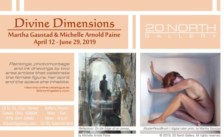 """Divine Dimensions"" exhibit postcard"