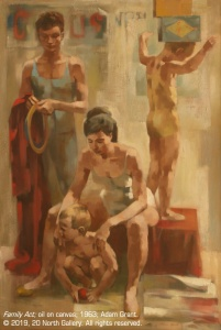 """""""Family Act"""" oil on canvas by Adam Grant, 1963"""
