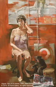 """""""August 15th"""" oil on canvas by Adam Grant, 1985"""