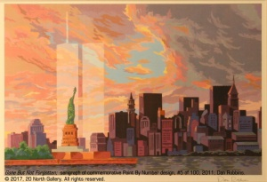"""""""Gone But Not Forgotten"""" limited edition print of Dan Robbins' 2011 Paint By Number design, from the collection of Peggy Grant"""