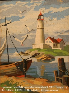 """Lighthouse"" Paint By Number canvas designed by Dan Robbins, from the PBN collection of Ann Goodridge"