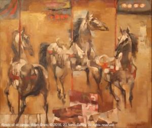 """""""Rondo"""" oil on canvas by Adam Grant, ca. 1975"""