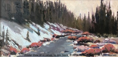 """October Snow"" oil painting by John Steele"