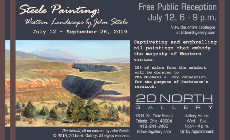 """Steele Painting"" exhibit postcard"