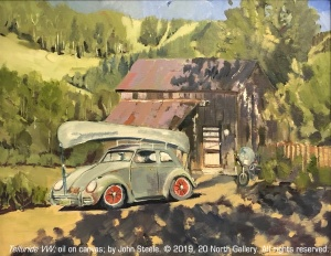 """Telluride VW"" oil painting by John Steele"