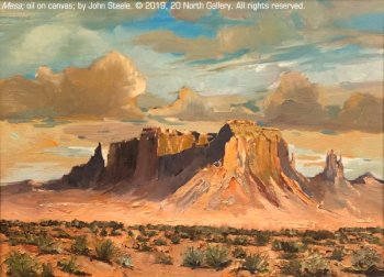 """Mesa"" oil painting by John Steele"