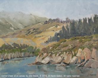 """""""Carmel Creek"""" oil on canvas by John Steel"""
