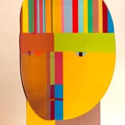 03_Tom McGlauchlin_George's Favorite Hat_flat glass panel, FGPA11_45x18x16inches