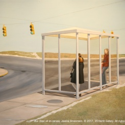 09_Bus Stop_oil on canvas_by Joanne Grossmann_68x81inches