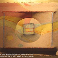 10_Landscape_cast paper relief with pastels and colored pencil_by Tom McGlauchlin_r