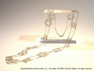 """Filigree Necklace,"" sterling silver by L. Sue Szabo"