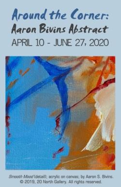 """""""Around the Corner: Aaron Bivins Abstract"""" exhibit graphic"""
